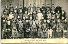 Bishop of Chungking with Chinese priests