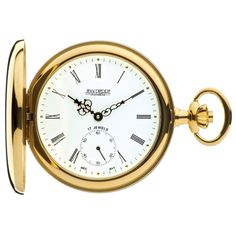 Jean Pierre Of Switzerland Gold Plated Full Hunter Pocket Watch With Roman Numerals. Now available at www.pocketwatch.co.uk #pocketwatch #timepiece