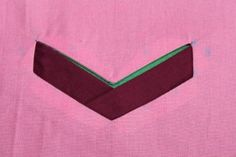 French blog with a tutorial and pattern for creating this shaped welt pocket
