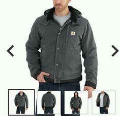 Carhartt Men's FULL SWING Caldwell Jacket  Shadow Gray Size Medium M New 102358