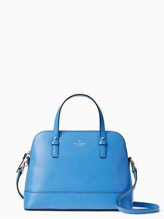 Kate Spade Grand St Small Rachelle Leather Satchel Shoulder Bag Crossbody Blue #katespade #Satchel
