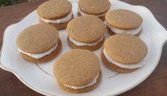 These gingerbread whoopie pies are the marriage of two of my favorite Christmas flavors.