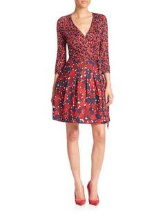 DIANE VON FURSTENBERG New Jewel Wrap Dress. #dianevonfurstenberg #cloth #dress
