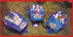 1989 MXDN Troy Lee Designs Helmets of Jeff Stanton, Jeff Ward and Mike Kiedrowski | Flickr - Photo Sharing!