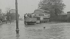 Traffic chaos and flooding in south county Dublin after heavy rain. Dublin Street, Dublin City, Dublin Ireland, Ireland Travel, Old Pictures, Old Photos, East Coast, Busses, History