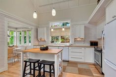 Kvale Hytte Cottage - A small, custom two-story cottage in Redmond, Washington. Designed and built by The Cottage Company. | pinned by haw-creek.com