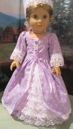 """Colonial Splendor "" for Felicity,Elizabeth Fits 18"" American Girl Doll Clothes #Handmade #DollClothes"