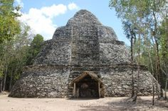 The Maya Temple for the God of Wind in Coba, Mexico