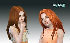 Sims 4 CC's - The Best: Germania Hairstyle for Girls by Kiara24