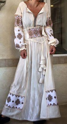 Round Neck Ankle-Length Print Vintage A-Line Dress – Style Bohemian Mode, Bohemian Style, Boho Chic, Ethnic Fashion, Boho Fashion, Fashion Dresses, Womens Fashion, Ropa Shabby Chic, Beautiful Dresses