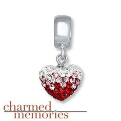Charmed Memories Swarovski Elements Charm Sterling Silver