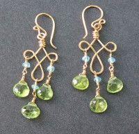 Gypsy with Apatite and Peridot Handmade Earrings