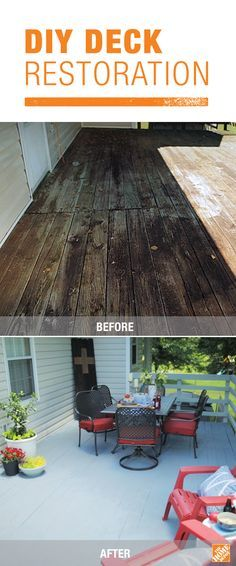Refresh and brighten up your deck just in time for  spring with a fresh coat of paint. Add a refined touch to  your traditional wooden deck and transform the look of your entire backyard with this simple DIY project.