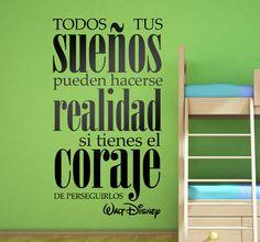 Vinilo decorativo frase Walt Disney