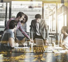 Brainstorming with the best in the city stock photo 89280185 - iStock