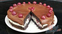 Makový dort bez mouky s višněmi a bílou čokoládou