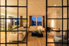 Riant designappartement in Amsterdam - Manners. Furniture, Room, House, Art Of Living, Home, Pocket Doors, Glass Partition, Steel, Room Divider