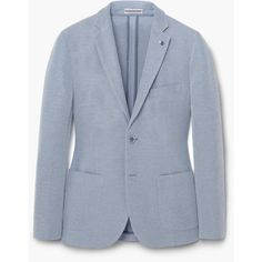 MANGO MAN Unstructured Piqué Blazer (7.250 RUB) ❤ liked on Polyvore featuring men's fashion, men's clothing and men's sportcoats