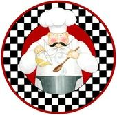 Chef With Pot (Stephanie Stouffer): Chef Kitchen Decor, Kitchen Art, Decoupage Vintage, Decoupage Paper, Chef Pictures, Vintage Italian Posters, Foto Transfer, Diy Coasters, Popsicle Stick Crafts