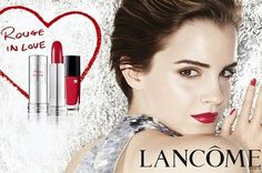 """Famous makeup brand Lancome has collaborated with lovely Emma Watson to promote their latest lipstick collection, the Lancome Rouge In Love lipsticks for 2012 . With the concept """"true love stays, never fades"""" in mind, the makeup artis Emma Watson Wallpaper, Brave, Lancome Lipstick, Lipsticks, Star Wars, Mario Testino, Lipstick Collection, Beautiful Lips, Beautiful Women"""