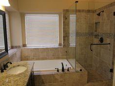 Shower and tub master bathroom remodel - traditional - bathroom - dallas - by The Floor Barn