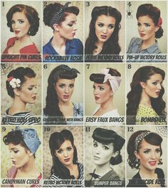 Pin Up Hairstyles.