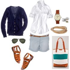 Summer Sightseeing, created by bluehydrangea on Polyvore