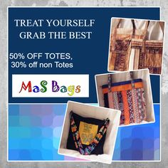 """After Christmas Clearance, 50% off all Tote Bags, 30% off Gift Shop Items  ""http:/www.zibbet..com/masbags"""