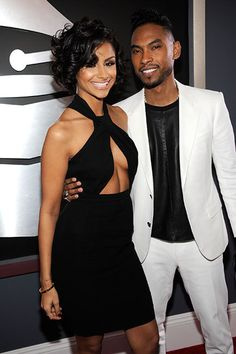 #Miguel and long time girlfriend Nazanin Mandi at the Grammys last night