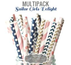 Pretty Paper Straws SAILOR GIRLS DELIGHT by MoreSprinkledJoy