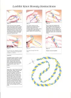 Ladder knot twine rosary instructions page 2 of 2