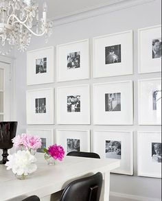 i like this idea for a photo wall