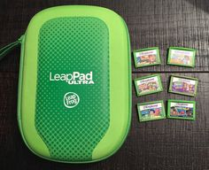 LeapFrog LeapPad Ultra Carrying Case Green  with 6 Games USED Excelent condition…