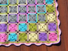 Crochet blanket Granny square blanket Multi by KristinaSHaSHop