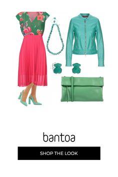 39765d6972f0 Outfit bon ton per serata primaverile.. abito in rosa e verde prato e  bustina
