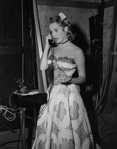 Janet Leigh on the set of Just This Once (1952).
