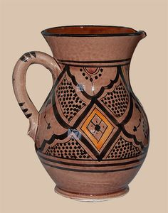 Moroccan Safi Design Water Jug in Dusty Pink