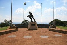 """South African Army - SADF Commemorate """"Erected in sacred memory of all members of the South African Defence Force who gave their lives in the service of The Republic of South Africa"""" at Fort Klapperkop. Johannesburg City, Defence Force, Pretoria, The Republic, South Africa, Army, Life, Statue, Country"""