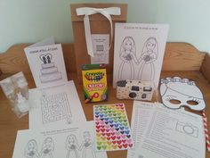 The Big Day Camera Colouring Set, Bride & Bride Edition: Gay Wedding Busy Bag (Age 3 to 6 Years) Children's Wedding Favour on Etsy, £12.00