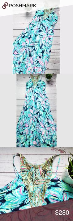 79b9b7f5a048ad NWT LILLY PULITZER Lannette Embellished Maxi Dress This is a stunning Lilly  Pulitzer