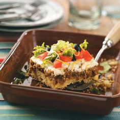 Taco Corn Bread Squares Recipe from Taste of Home -- shared by Denise Hughes of Waynesville