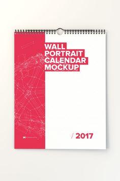 Wall Portrait Calendar Mockup Pack – Original Mockups