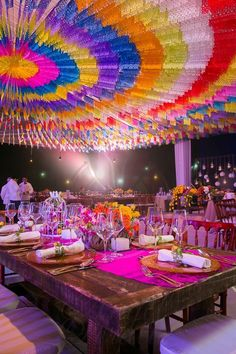 Mexican style wedding with vivid colors