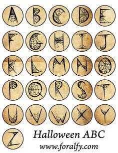 Halloween ABC Circles