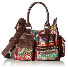 #Desigual Tasche - Modell Gipsy. Muster: floral, ethnisch, exotisch und Mandala, braun.