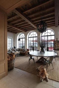 Love these gorgeous windows and the open design of the rooms