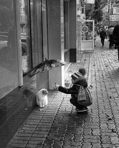 No act of kindness, no matter how small, is ever wasted. Old Pictures, Old Photos, Vintage Photos, Beautiful Moments, Life Is Beautiful, Baby Kind, Black And White Photography, Pet Birds, Cute Kids