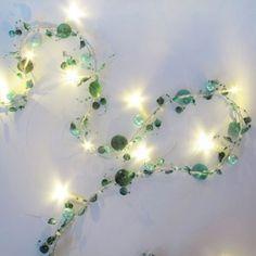 Fairy Lights! I really like these greens.
