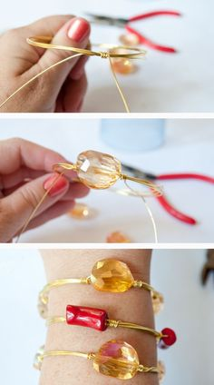 DIY Wire Wrapped Bracelets - Gorgeous Arm Candy You Can Make!