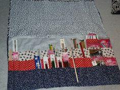 Knitting Needle Storage -- my mama made me this!